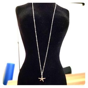 Jewelry - Hand made sterling silver starfish necklace